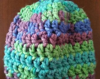 Infant crochet wool hat