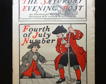 June 30 1900 The SATURDAY EVENING POST, First 4th Of July Cover, Advertisments