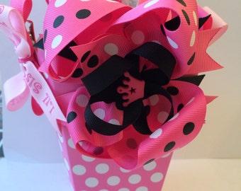 Pink Lil Sister Mini Bow Basket