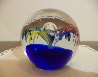 Fermacarte di vetro di Murano con Fiore