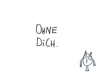 "Postcard ""ohne dich"" - eDITION good spirits"