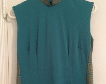 1970s designer Alfred Shaheen dress. Size 12