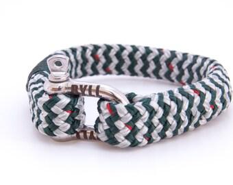 Sailor Green / White bracelet