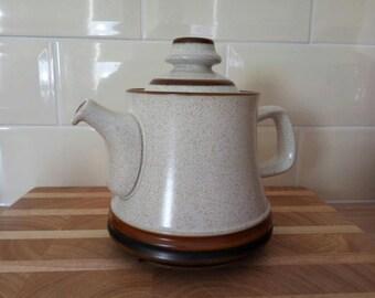 Vintage Denby Teapot - Brown & Cream w/ speckled finish