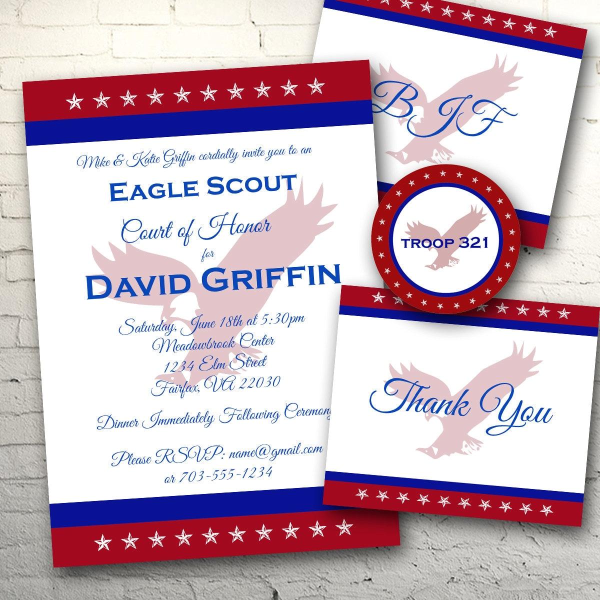 Tri-Color Eagle Scout Invitation