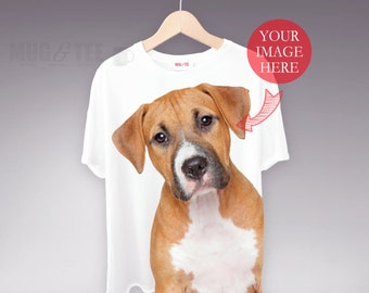 Personalised T-Shirt, Pet t Shirt, Print My Pet, Dog t shirt, Pet Selfie, puppy love, pet t-shirts, Pet Gifts, Puppy Photo, dog gifts
