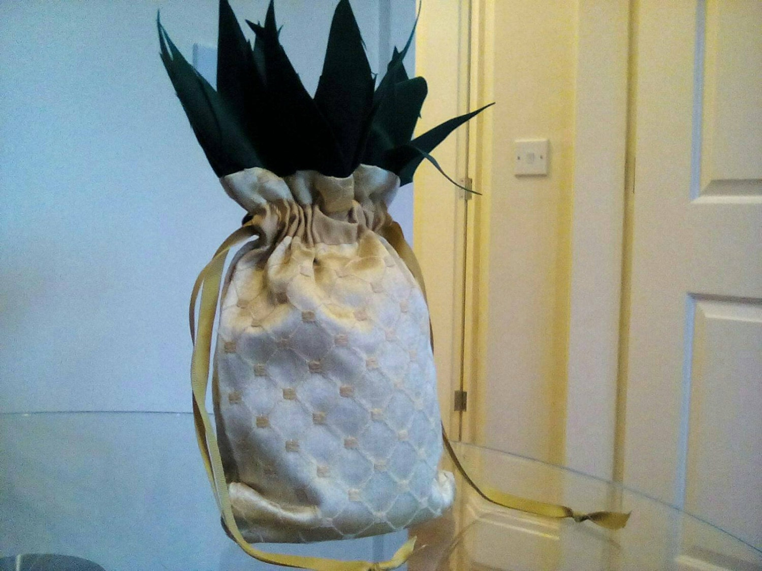 Pineapple Regency Reticule / draw string bag by ...