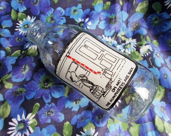 Retro Unigate 1 pint Milk Bottle - 'Oh No! The Humphries Are Back' - 1980's