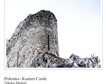 Polemics - Kantara Castle ( ruins, history, Famagusta, Cyprus, fine art photography, art print, stone wall, Mediterranean, wall decor )