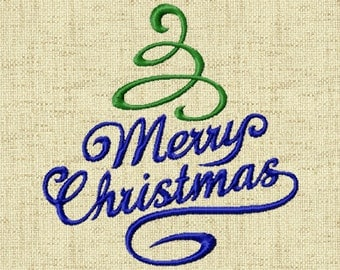 BOGO FREE! Merry Christmas, Machine Embroidery Design, Digital instant download file,  A002