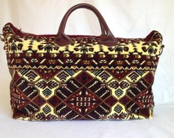 Rich Earth Tones, Genuine Carpet Bag