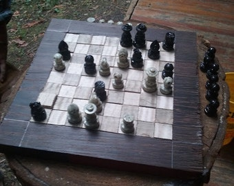 Curly Maple Chessboard