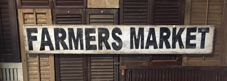 Vintage Farmers Market Sign 7 x 48 Farmers Market ...