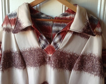 Plus size vintage brown/orange stripes