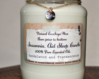Aromatherapy enhanced candle, Vegan Candle Natural Eco-Soya Wax with 100% Pure essential oils