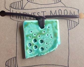 Abstract green pendant