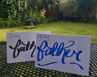 Father in blue - Fathers Day Card