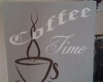 Hand Painted Coffee Time Sign