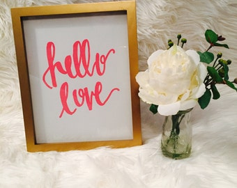 Hello Love Printable