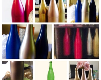 Over 32 Colors available CHAMPAGNE bottles for crafting, centerpieces, wedding decorations