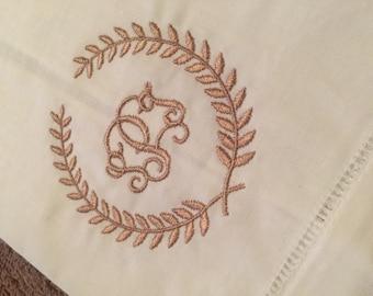 Linen Guest Towel, monogrammed, custom, hand towel