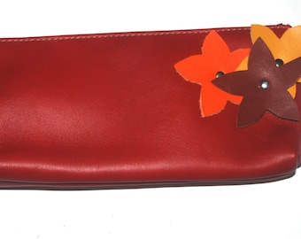 Kit, leather with flowers