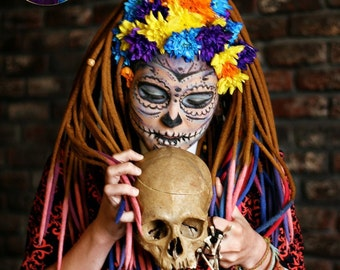 Set of wool DE dreads Halloween dreadlocks Calavera