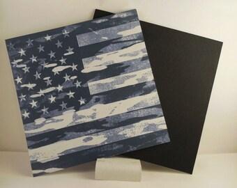 Blue distressed Flag