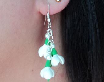 snowdrops earrings