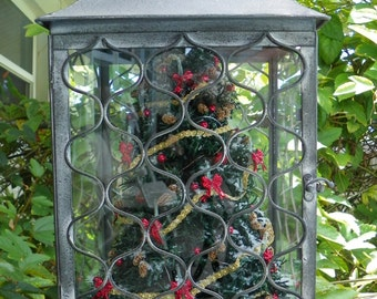 Miniature Christmas in Victorian Style Lantern