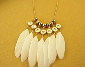 Bohemian Real Feather Necklace