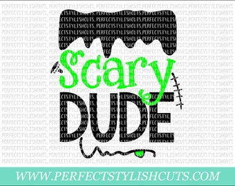 Scary Dude SVG, DXF, EPS, png Files for Cutting Machines Cameo or Cricut - Halloween Svg, Boy Svg, Trick or Treat Svg, Frankenstein Svg