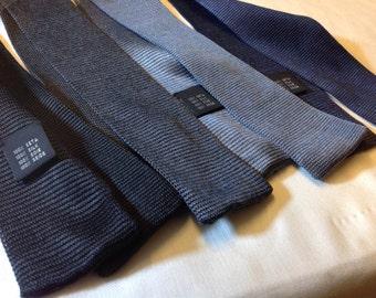 silk knit skinny tie