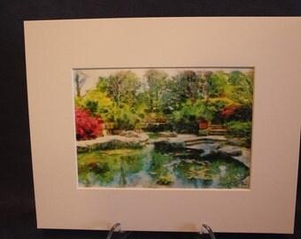 Digital Painting Dallas Arboretum