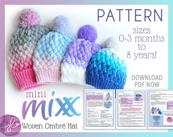 Knitting Pattern For A Toddlers Beanie : knitting PATTERN baby HAT toddler hat child by jOSSLYNNdesigns