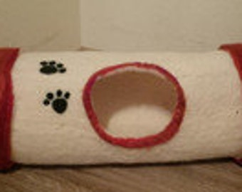 cat cave tunnel natural color/cat bed/felt bed/pet bed
