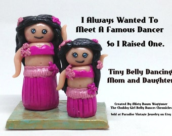Tiny Belly Dancing Mom and Daughter, Belly Dance, Gift, Keepsake, Teacher