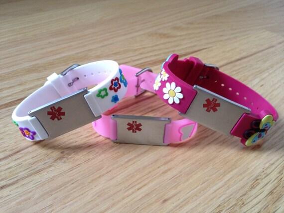 Medical Alert Bracelet For Kids By Icetagsid On Etsy