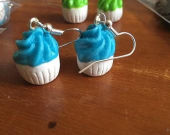 Light blue Cupcake earrings