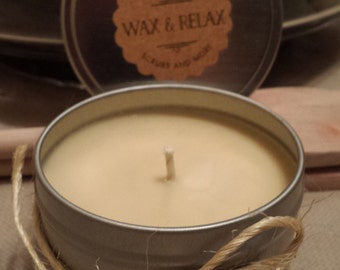 LAVENDER-CHAMMOMILE 100% Natural Soy Candle 4oz