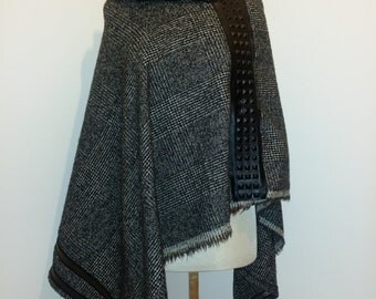 Mohair & wool poncho-Cape