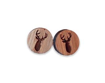 Deer Wooden Cufflinks
