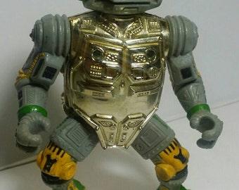 Vintage 1989 Teenage Mutant Ninja Turtles Metalhead Action Figure Playmates