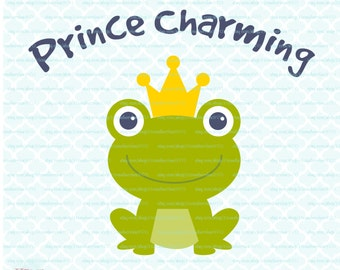 Frog Prince svg Frog svg Prince Charming svg Fairytale svg dxf eps jpg svg files for Cricut Silhouette dxf files svg cut files