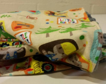 """26"""" x 20"""" Baby Boy Security Blanket - Construction Theme"""