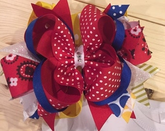 Birthday Bow, big bow, hairbow, giant bow, layered bow