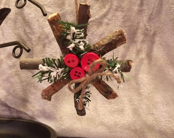 Handmade Mini Twig Wreath Ornaments