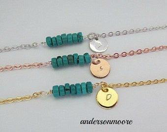 Mini bar gemstone bracelet,personalized, bracelet,initial bracelet