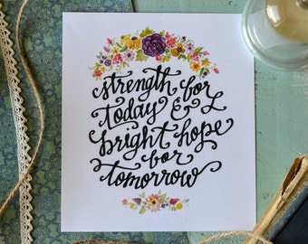 Strength for Today | 7x8 Print