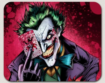 Crazy Joker Batman Villain Mousepad